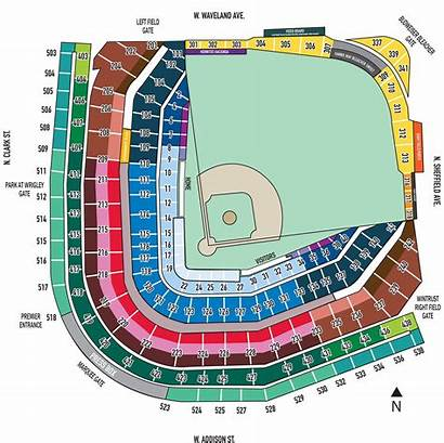 Wrigley Seating Field Chart Seat Cubs Numbers