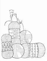 Yarn Knitting Coloring Crochet Needles Knit Template Dream Knitpicks Enregistree Depuis sketch template