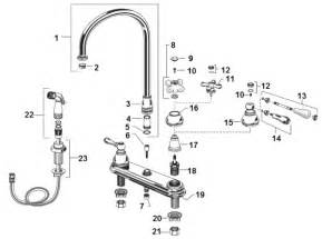 kitchen faucets parts american standard 4751732099 hton two handle kitchen