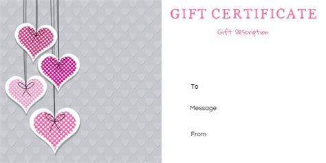 printable anniversary gift vouchers customize