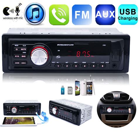 Usb Car Stereo by In Dash Car Audio Stereo Am Fm Aux Input Receiver With Sd