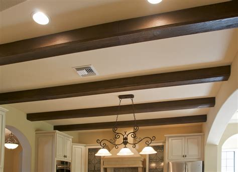 Faux Wood Beam Ceiling Designs  Traditional Kitchen
