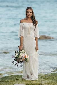 tips on choosing beach wedding dresses for destination With boho wedding dress beach