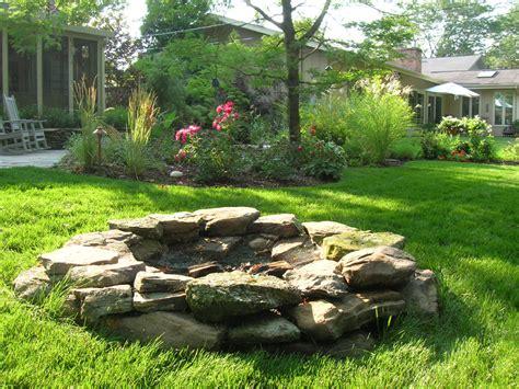 backyard landscaping pit all natural fire pit pinmydreambackyard my dream backyard pinterest natural backyard and