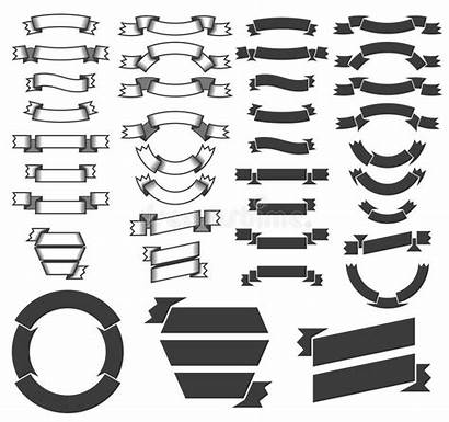 Heraldic Banners Ribbons Vector Outline Ribbon Clipart