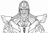 Thanos Infinity Coloring Avengers Pages War Drawing Printable Gauntlet Fortnite Line Print Marvel End Game Thor Easy Hulk Template Simple sketch template