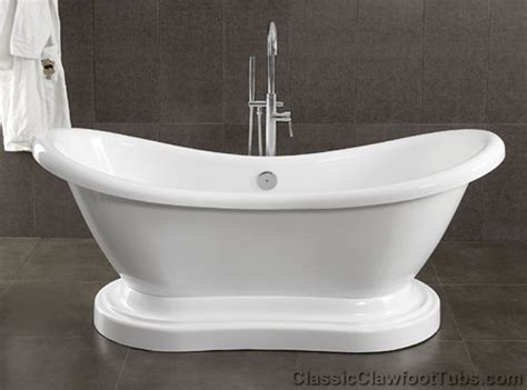 Pedestal Tub by 69 Quot Acrylic Ended Slipper Pedestal Tub Classic