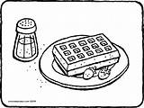 Waffle Colouring Wafel Waffel Ausmalbild Malvorlage Gaufre Kleurplaat Kleurplaten Coloring Sucre Glace Kiddicolour Avec Fraises Bloemsuiker Aardbeien Martin Erdbeeren Dessin sketch template