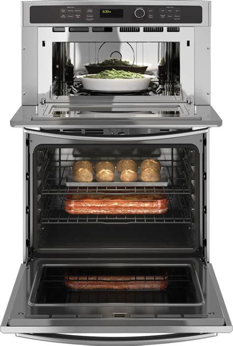 ge jtshss   combination wall oven  sensor cooking  clean  steam