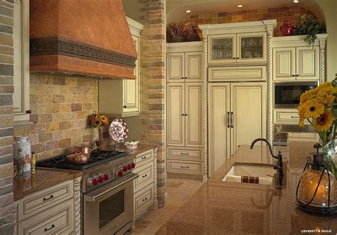 brickstone kitchen backsplash antique white cabinets