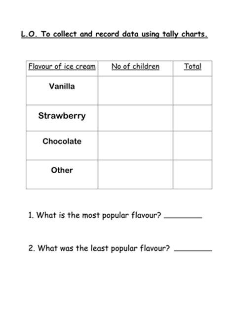 favourite ice cream tally chart  pantobabe teaching resources