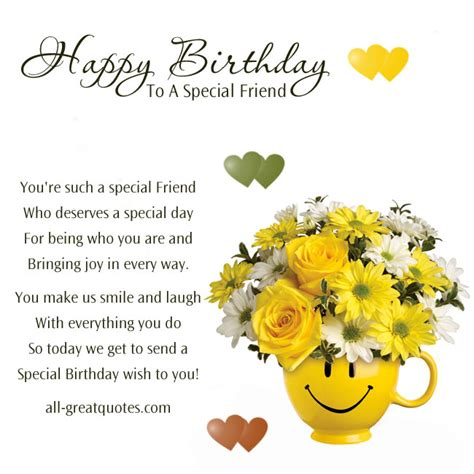 quotes happy birthday special friend