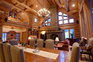 Amazing log homes interior interior log home open floor for Log homes interior designs 2