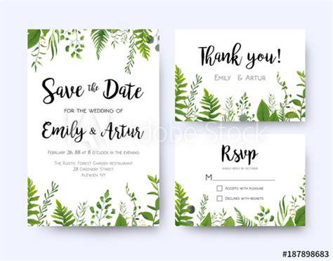 wedding invite invitation menu rsvp   card vector