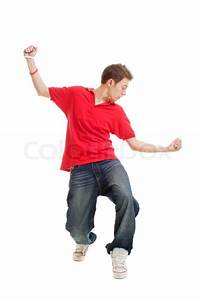 Hip-hop guy dancing | Stock Photo | Colourbox