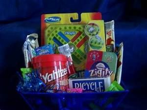 Surprise the Kids with a Travel Fun and Games Gift Basket