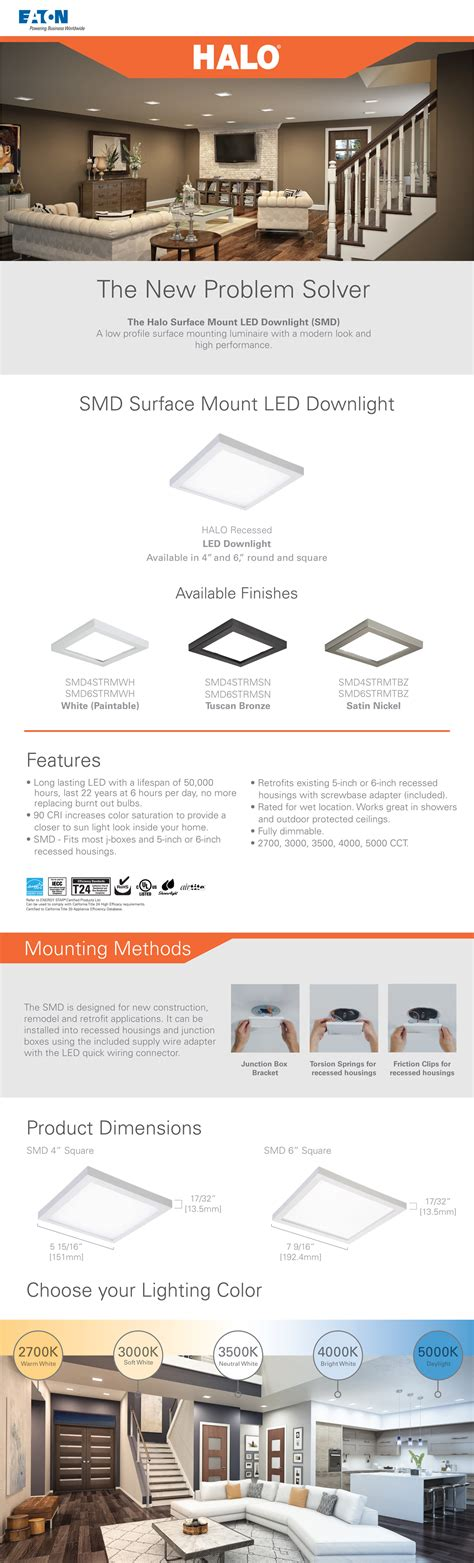 halo smd   white integrated led recessed square surface mount ceiling light fixture