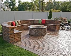 Paver patio fire pit designs fire pit design ideas for Brick patio ideas with fire pit