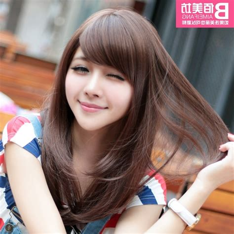 korean haircut   face straight hair wavy haircut