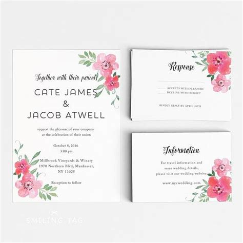 gorgeous watercolor floral wedding invitation printabl