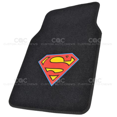superman car mats superman car floor mats 4 pc officially licensed products