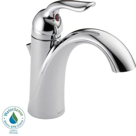 Lahara Faucet Home Depot by Delta Lahara Single Single Handle Bathroom Faucet In