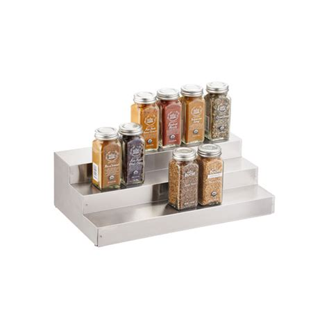 3 tier stainless steel expanding shelf the container store