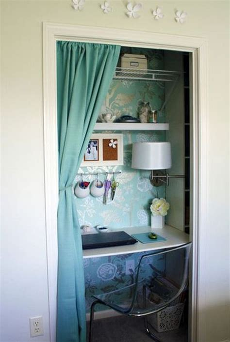 closet desk ideas turn a closet or cupboard into a workstation