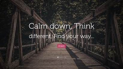 Think Different Calm Down Way Quote Arash