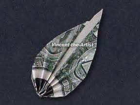 Dollar Bill Origami Leaf