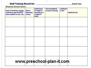 preschool staff evaluation form 44 best images about for directors administrators and 599