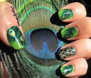 Peacock Nail Art Ideas For Summer 2014 - Life n Fashion