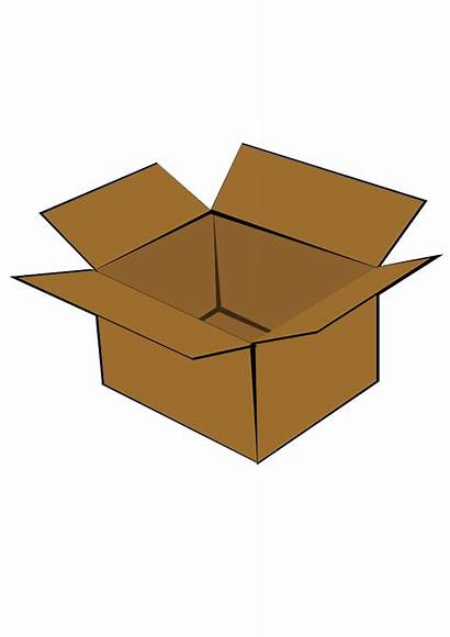 Box Clip Clipart Cardboard Wooden Packing Put