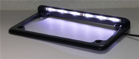 Horizontal Led Lighted Motorcycle License Plate Frame With