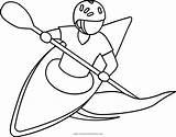 Coloring Kayak Kayaking Printable Getcolorings sketch template