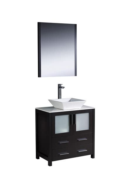 30 Inch Vessel Sink Bathroom Vanity in Espresso