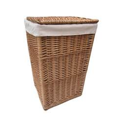 Natural Wicker Laundry Basket Square