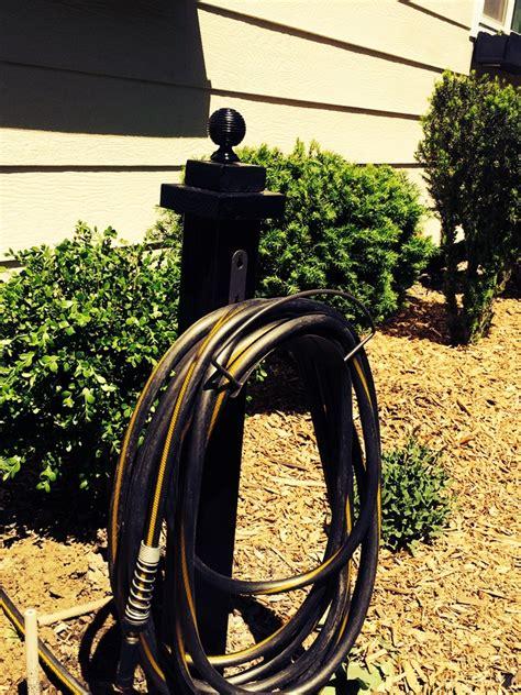 build  garden hose hanger beginner diy