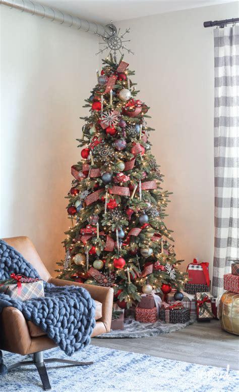 rustic modern christmas tree decorating ideas
