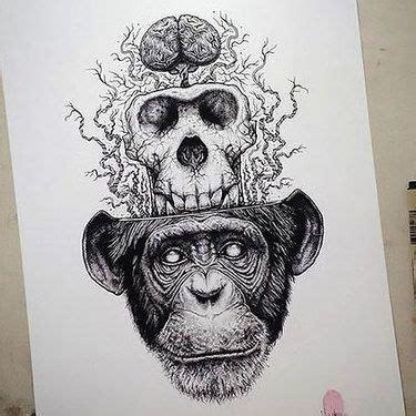 Surreal Dinosaur Head Tattoo Design Tattoos Brain