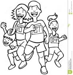 Person Running Clip Art Black and White