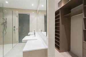 merveilleux salle de bain dans chambre parentale 5 With chambre parentale dressing salle de bain
