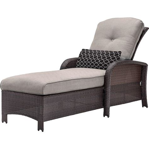 Chaise Lounge by Cambridge Corolla Wicker Outdoor Chaise Lounge With Gray