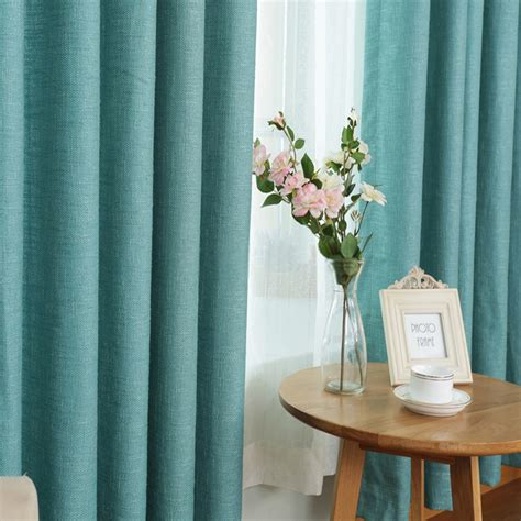 modern solid energy saving thick window curtains