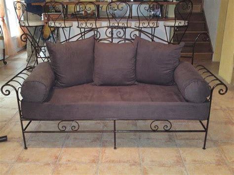 canapé lit en fer forgé canapé en fer forgé sur mesure canapé en fer