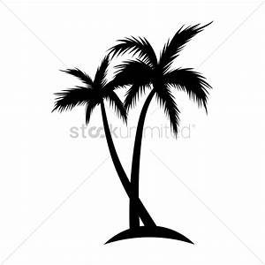 Silhouette of coconut tree Vector Image - 1902990 ...