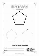 Shapes Geometric Coloring Pentagon Cool Pages Nonagon Hexagon Heptagon Octagon sketch template