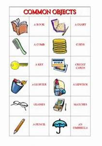 English worksheets: Common Objects