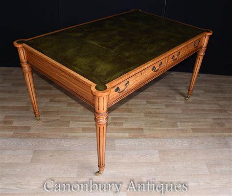 top bureau regency gillows writing table desk leather top bureau