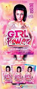 Girl Power Party Psd Flyer Template 9492438  U00bb Free Download Photoshop Vector Stock Image Via